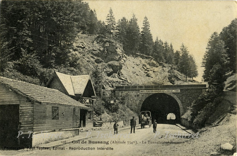 Col de Bussang entree du tunnel Chariot 1907-1