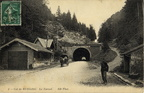 Col de Bussang entree du tunnel Chariot 1913-1