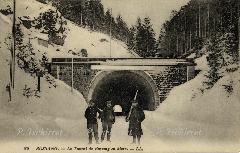 col de bussang entree du tunnel neige 1914 5 cartes postales photos patrice tschirret. Black Bedroom Furniture Sets. Home Design Ideas